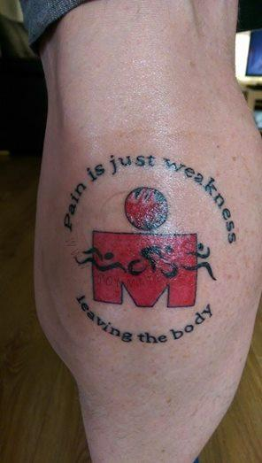 Selection Of M Dot Ironman Triathlon Tattoos From Around