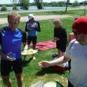 Healthy choice of foods arrive via Tri Topia at the lake after a swim long bike and run