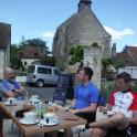 Cafe stops during a recovery cycle ride