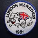 London marathon badge dated 1981 - I still have it