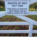 Rights of Way Act apparently means no public right of way