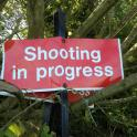 Shooting in Progress Keep out