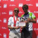 Steve Harrison winner of Triathlons has my book
