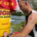 IronMate Photo - Red Ironman M-Dot Hydrating After Trigrandprix