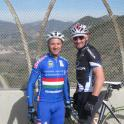 IronMate Photo - Mark cycle training with Josh Hayes 2010 And 2011 Ama Usa Superbike Champ
