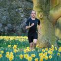 Mark Kleanthous running through a field of daffodils, dont worry i was on a footpath did not damage one flower!