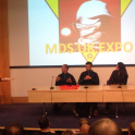 Mark Kleanthous speaks at the marathon des sables London expo 2015