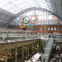 IronMate Photo - 5 Olympic Rings St Pancras Station London 2012