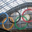 IronMate Photo - Olympic Rings At St Pancras International Station