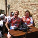 IronMate Photo - M And C Relaxing At Cafe Stop During A Ride In Italy