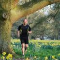 IronMate Photo - Ironmate Mark Running In The Daffodils By G Jones