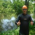 George improved his open water swimming after coahcing with Mark Kleanthous
