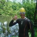 Toby gives the thumbs up for Ironmate swim coaching