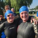 Clare Kleanthous & Helen Butler-Landman are ironmate ready for the Henley Mile 2017  #ironmatecoaching