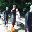 Gavin gives Ironmate Mark Kleanthous the thumbs up during his Bridge to Bridge swim Henley to Marlow 2015 #ironmate #ironmatecoaching #openwater #openwaterswim #openwaterswimcoach #swimcoach #boxendpark #bedford