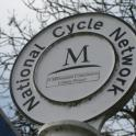 IronMate Photo - National Cycle Network Sign Grand Union Canal