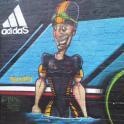 IronMate Photo - Graffiti Of Triathlete Swimmer