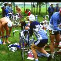 This is what triathlon was like in 1984 nudity no cycle helmets