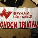 London Triathlon Banner 1984