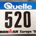 Roth Ironman race number 1992 sub 10 hour iron man for Mark Kleanthous