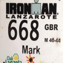 IronmanTriathlon Lanzarote competitor race number 1993 mark kleanthous i did 10:50:49